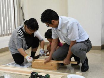 8月親子体験木工教室