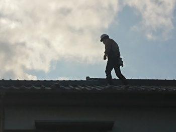 台風被害の屋根工事